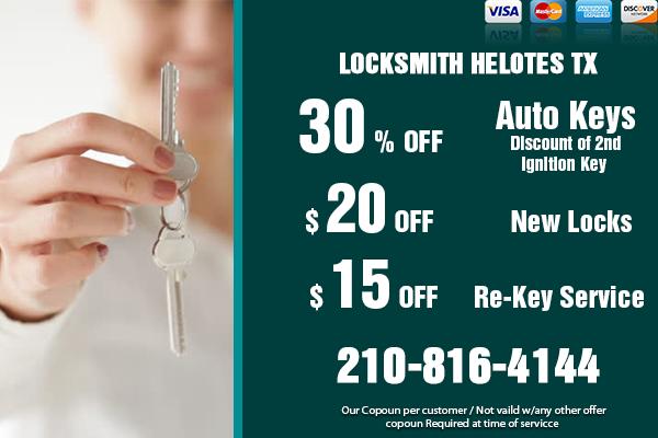 Locksmith Helotes TX Coupon